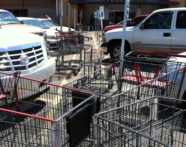 Handicapped Lane Shopping Carts