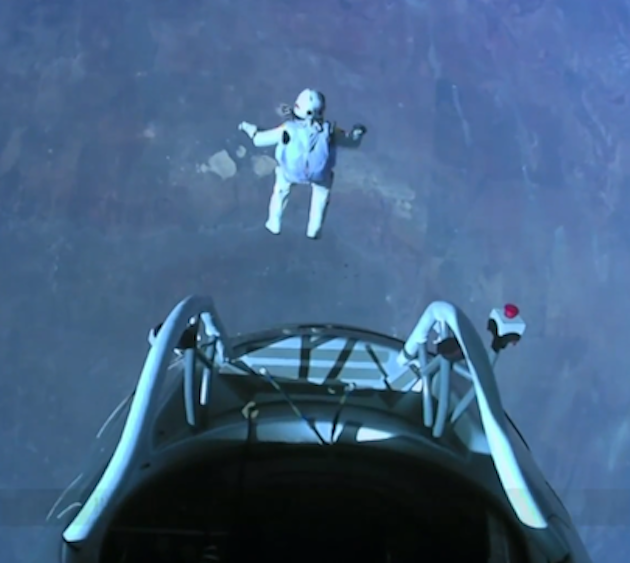 Felix Baumgartner Jumps from 24 Miles Above Earth