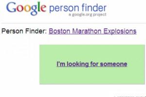 Google People Finder Boston Marathon Explosion